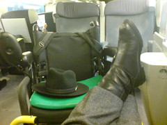 On the TGV, I can put up my feet on the train