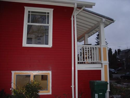 Southeast corner window