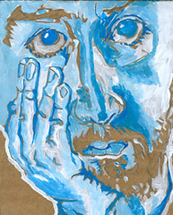 self-portrait #02 guache on cardboard 5 x 7 copy