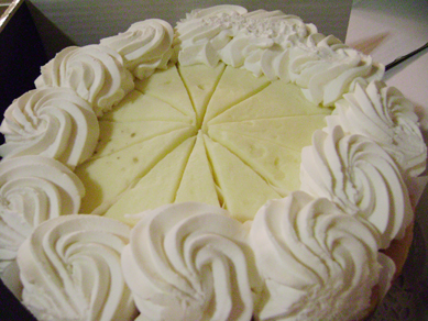 Brian and Czarina's banana cheesecake from Cheesecake Factory