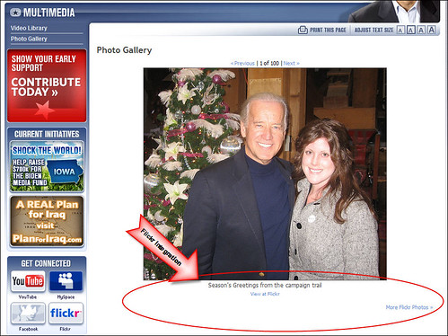 Joe Biden's Flickr Integration