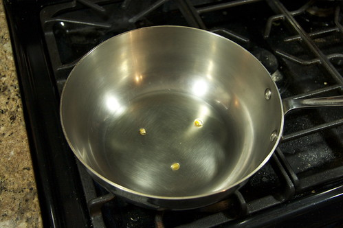 Heat oil in pan