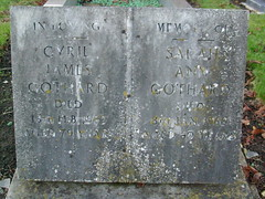 Cyril James and Sarah Ann Gothard (familytreeuk) Tags: familyhistory genealogy familytree gravestone cambridgeshire fenland wilburton gothard familytreeukcouk cyriljamesgothard sarahanngothard