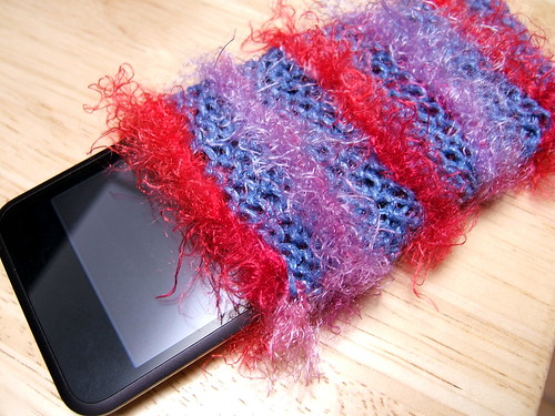knitted ipod cozy