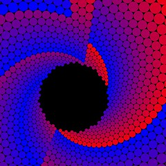 Approximation of Doyle Spirals (fdecomite) Tags: spiral manipulation math doyle imagej