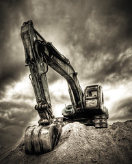 The True Power ... Another Edit (Khaled A.K) Tags: tractor sepia clouds sand saudi arabia jeddah saudiarabia hdr