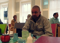 more tea (estherase) Tags: emssimp findleastinteresting 0f gavin friend tea cafe wellcome wellcomegallery wellcomeinstitute friends