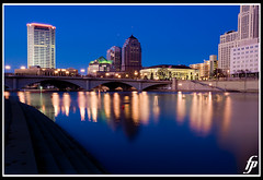 Broad Street Bridge (fensterbme) Tags: city bridge blue skyline reflections river interestingness downtown wideangle columbusohio 5d ultrawideangle fensterbme interestingness95 i500 canonllens canon1635mm ultrawidelens fenstermacherphotography canon1635mmf28lmkii explore03feb08