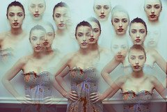 Multiplicity (monsters.monsters) Tags: girls portrait selfportrait pose nikon women manipulation save2 creepy multiple clone cs3 d80