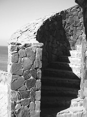 stairway  (alotrolado) Tags: white black heaven fort