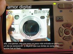 amor digital (serie, formas del amor) (Analía Acerbo Arte) Tags: love digital amor flash juego cámaras modernidad