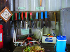 Tools Of The Trade (Barefoot In Florida) Tags: tampa gardening tools sweetwaterorganicfarm