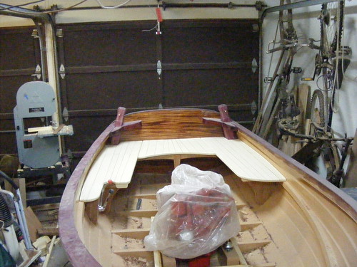 Seats are rtrimmed and sanded