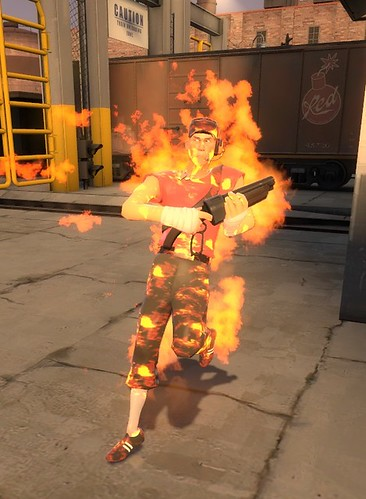 scout on fire