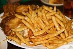 fries and...uh, chicken