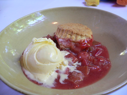 Chez Panisse - Rhubarb and strawberry cobbler
