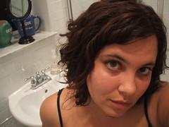 new hair, clean bathroom (petit hiboux) Tags: selfportrait hair vanity