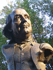 Keys To Community: Ben Franklin in morning light