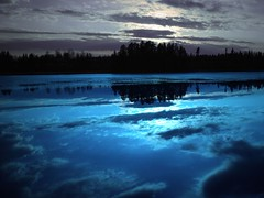 Ice blue night on Nasijrvi (northmanimages) Tags: blue sunset nature water reflections suomi finland mirror lakes masterclass waterscapes kuru abigfave