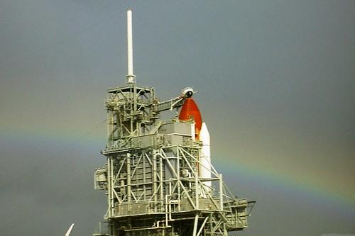 Rainbow over the Shuttle