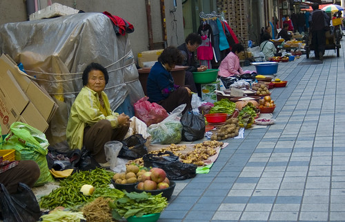 Out door market in Andong
