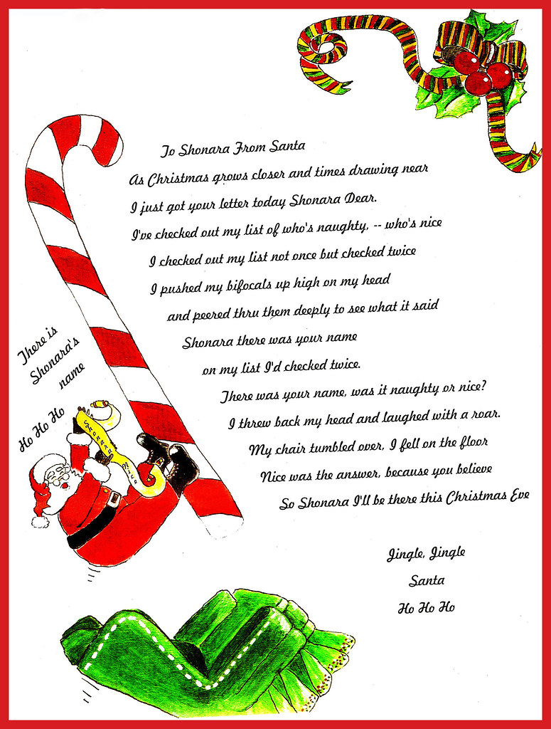 Letters From Santa Examples