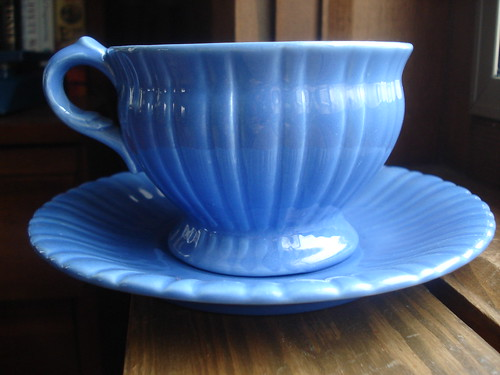Stangl Colonial dinnerware cup and saucer in colonial blue 1935-1944 & Flickriver: merebearlandon\u0027s most interesting photos