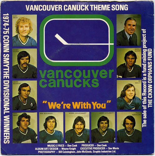 Vancouver Canucks, Canucks We're With You, Don Cook, hockey music