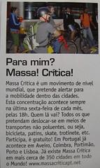 Massa Crítica nos media: Sport Life Dez 2007
