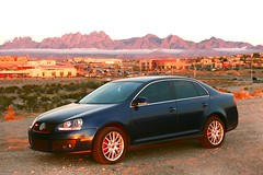 GLI sunset (The Korky) Tags: new city las pink blue sunset red orange mountains reflection car yellow vw clouds canon volkswagen mexico town all desert aaron scenic jackson organ v turbo rights midnight jetta g