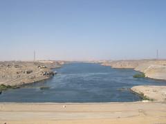 View from the Aswan Dam:  Looking North (upyernoz) Tags: dam egypt nile aswan   aswanhighdam aswandam