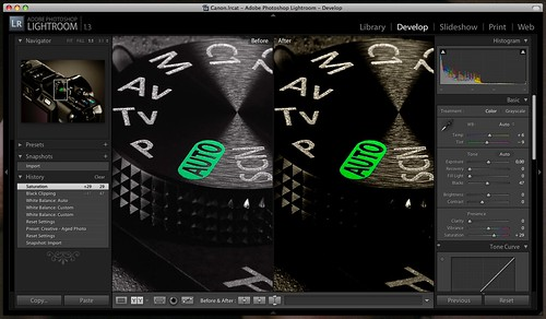 Adobe Lightroom corriendo glorioso en mi MacBook Pro