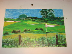 golf (themajors22) Tags: art painting golfcourse colorpencil