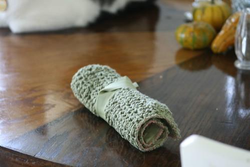 Crochet hook holder.