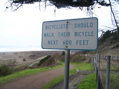 Bicyclists sign
