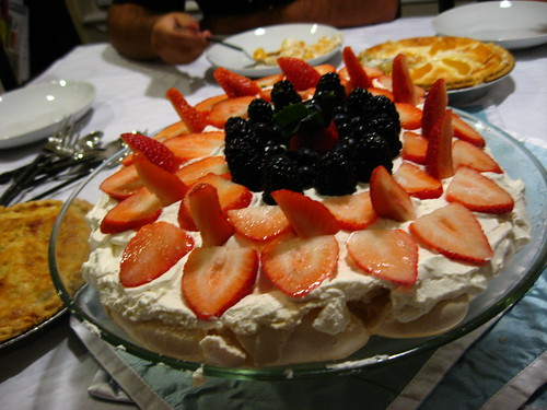 Pavlova made by Rob at Rick and Robyn's place, Tampa, Florida, USA