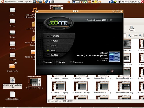 Xbox media centre on linux