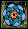 Felted Stained Glass Beret
