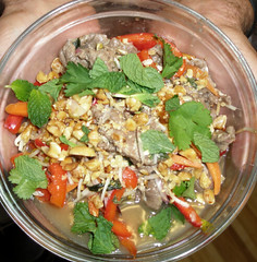 cambodian-style beef salad