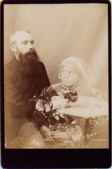 Spiritualist, J. H. Evans with Spirit Child (Photo_History - Here but not Happy) Tags: spirit ghost indianboy spiritualist spiritchild