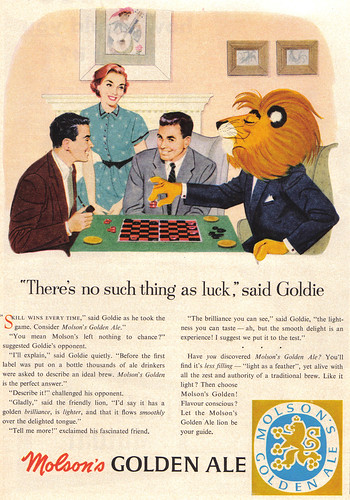 Vintage Ad #471: Lions Like Molson Golden