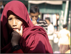 A Little monk in the market (Sukanto Debnath) Tags: boy red portrait india kid little market robe sony north monk east f828 sikkim nepali sikkimese debnath budhhist mywinners abigfave infinestyle sukanto sukantodebnath betterthangood kaluk