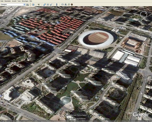 Shanghai in Google Earth