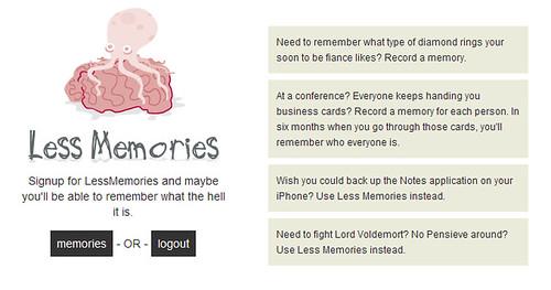 Less Memories