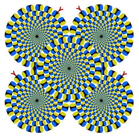 çuna ilusión óptica para acompañar el artículo acerca de la visión