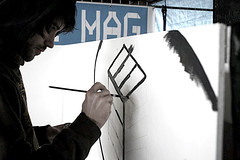 painting the bemag logo