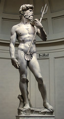 DAVID ... NEPTUNE! (The PIX-JOCKEY (no comments, only views!)) Tags: sculpture david art statue museum photoshop joke fake manipulation humour vip photomontage ren michelangelo neptune fotomontaggi robertorizzato pixjockey