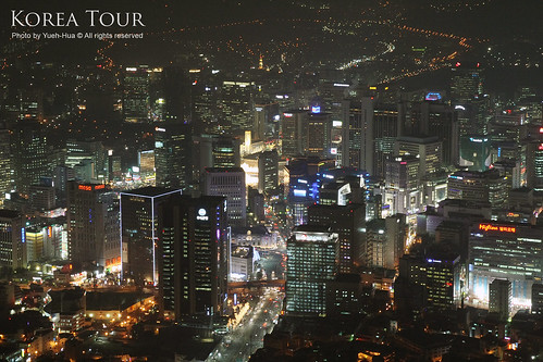 Seoul City at Night, Korea