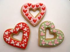 valentine Heart Cookies (nikkicookiebaker) Tags: cookies decorated
