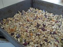 breakfast bars in pan